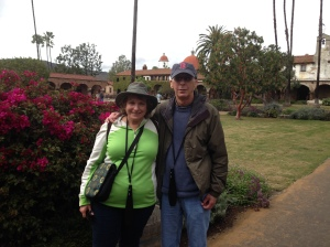 Larry and I enjoying our retirement in  Mission San Juan Capistrano, California.