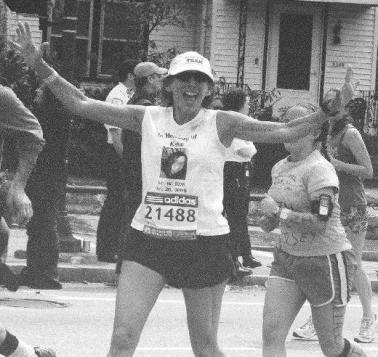 Judy at Boston Marathon