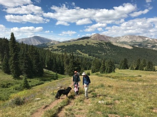 Heading up the trail on Boreas Pass.